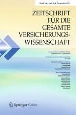 Zeitschrift für die gesamte Versicherungswissenschaft 3-4/2017