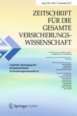 Zeitschrift für die gesamte Versicherungswissenschaft 5/2017