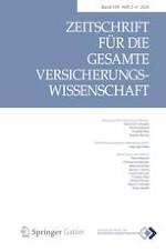 Zeitschrift für die gesamte Versicherungswissenschaft 2-4/2020