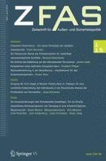 Zeitschrift für Außen- und Sicherheitspolitik 1/2015
