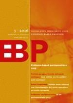 Nederlands Tijdschrift voor Evidence Based Practice 3/2016