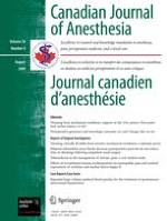 Canadian Journal of Anesthesia/Journal canadien d'anesthésie 8/2009