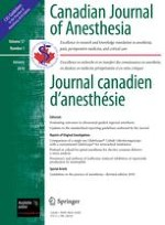 Canadian Journal of Anesthesia/Journal canadien d'anesthésie 1/2010