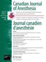 Canadian Journal of Anesthesia/Journal canadien d'anesthésie 11/2010