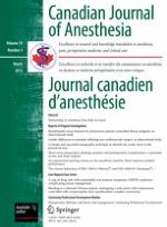 Canadian Journal of Anesthesia/Journal canadien d'anesthésie 3/2012