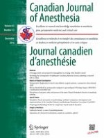 Canadian Journal of Anesthesia/Journal canadien d'anesthésie 12/2016
