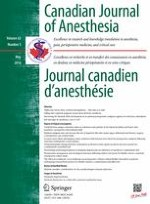 Canadian Journal of Anesthesia/Journal canadien d'anesthésie 5/2016