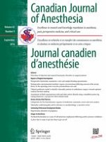 Canadian Journal of Anesthesia/Journal canadien d'anesthésie 9/2016