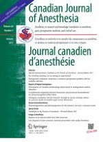 Canadian Journal of Anesthesia/Journal canadien d'anesthésie 1/2017