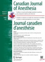 Canadian Journal of Anesthesia/Journal canadien d'anesthésie 8/2017