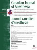 Canadian Journal of Anesthesia/Journal canadien d'anesthésie 9/2017