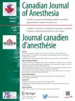Canadian Journal of Anesthesia/Journal canadien d'anesthésie 1/2018