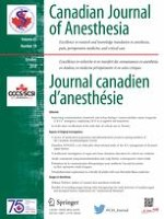 Canadian Journal of Anesthesia/Journal canadien d'anesthésie 10/2018
