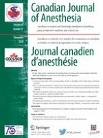 Canadian Journal of Anesthesia/Journal canadien d'anesthésie 11/2018