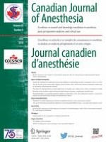 Canadian Journal of Anesthesia/Journal canadien d'anesthésie 6/2018