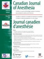 Canadian Journal of Anesthesia/Journal canadien d'anesthésie 9/2018