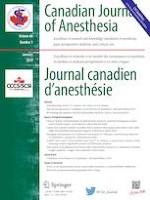 Canadian Journal of Anesthesia/Journal canadien d'anesthésie 1/2019