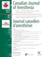 Canadian Journal of Anesthesia/Journal canadien d'anesthésie 4/2019