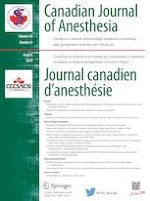 Canadian Journal of Anesthesia/Journal canadien d'anesthésie 8/2019