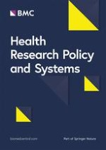 Health Research Policy and Systems 1/2019