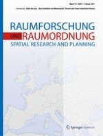 Raumforschung und Raumordnung |  Spatial Research and Planning 1/2017