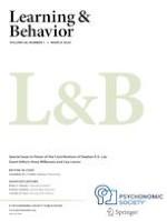 Learning & Behavior 1/2020