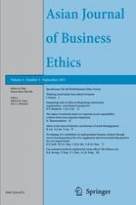 Asian Journal of Business Ethics 1/2015