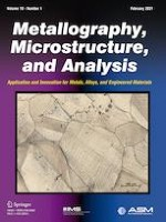 Metallography, Microstructure, and Analysis 1/2021