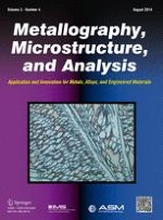 Metallography, Microstructure, and Analysis 4/2014