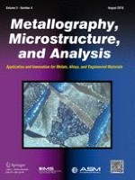 Metallography, Microstructure, and Analysis 4/2016