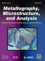 Metallography, Microstructure, and Analysis 6/2016