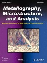 Metallography, Microstructure, and Analysis 1/2017