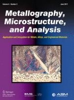 Metallography, Microstructure, and Analysis 3/2017