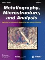 Metallography, Microstructure, and Analysis 5/2017