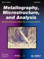 Metallography, Microstructure, and Analysis 6/2017