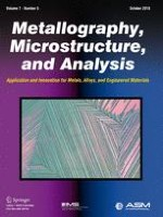 Metallography, Microstructure, and Analysis 5/2018