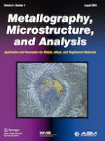 Metallography, Microstructure, and Analysis 4/2019