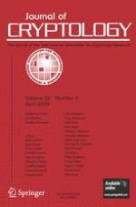 Journal of Cryptology 2/2009