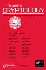Journal of Cryptology 1/2014