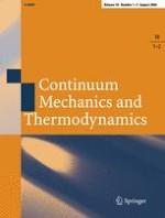 Continuum Mechanics and Thermodynamics 1-2/2006
