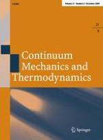 Continuum Mechanics and Thermodynamics 6/2009
