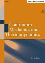 Continuum Mechanics and Thermodynamics 5/2014
