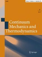 Continuum Mechanics and Thermodynamics 4-5/2015