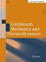 Continuum Mechanics and Thermodynamics 5/2016