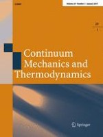 Continuum Mechanics and Thermodynamics 1/2017