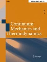 Continuum Mechanics and Thermodynamics 2/2017