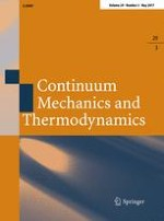 Continuum Mechanics and Thermodynamics 3/2017