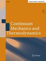 Continuum Mechanics and Thermodynamics 5/2017