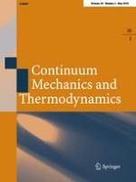Continuum Mechanics and Thermodynamics 3/2018