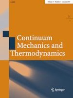 Continuum Mechanics and Thermodynamics 1/2019